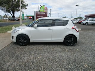 2016 Suzuki Swift FZ MY15 GLX Navigator White 4 Speed Automatic Hatchback.