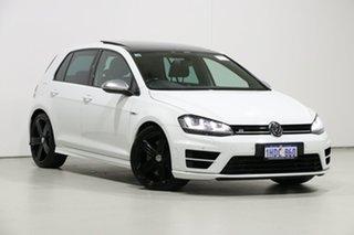 2014 Volkswagen Golf AU MY15 R White 6 Speed Direct Shift Hatchback.