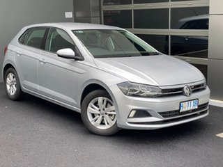 2018 Volkswagen Polo AW MY19 70TSI DSG Trendline Silver 7 Speed Sports Automatic Dual Clutch.