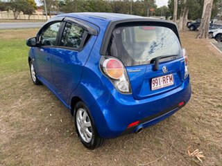 2010 Holden Barina Spark MJ MY11 CD Blue 5 Speed Manual Hatchback