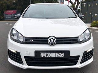 2011 Volkswagen Golf VI MY12 R 4MOTION White 6 Speed Manual Hatchback.