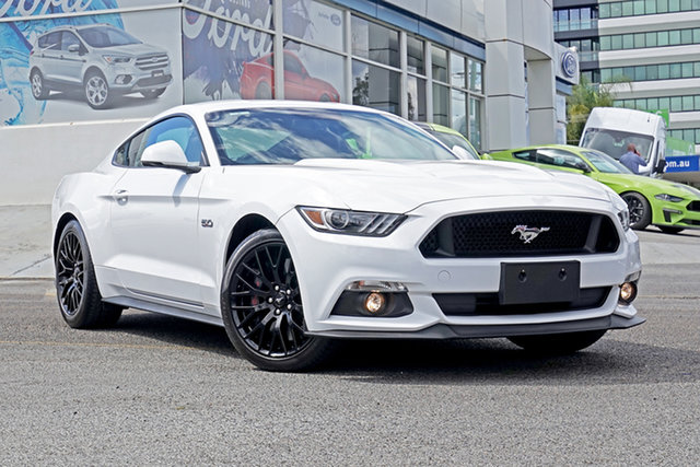 Used Ford Mustang FM 2017MY GT Fastback Springwood, 2017 Ford Mustang FM 2017MY GT Fastback White 6 Speed Manual Fastback