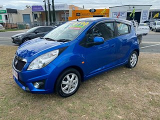 2010 Holden Barina Spark MJ MY11 CD Blue 5 Speed Manual Hatchback.