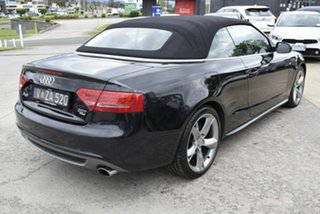 2011 Audi A5 8T MY11 S Tronic Quattro Black 7 Speed Sports Automatic Dual Clutch Cabriolet