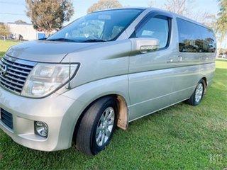 2005 Nissan Elgrand E51 Rider Gold 5 Speed Automatic Wagon