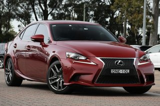 2016 Lexus IS GSE31R IS350 F Sport Red 8 Speed Sports Automatic Sedan.