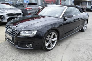 2011 Audi A5 8T MY11 S Tronic Quattro Black 7 Speed Sports Automatic Dual Clutch Cabriolet.