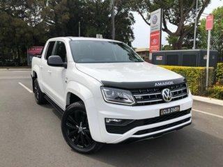 2019 Volkswagen Amarok 2H MY20 TDI580 4MOTION Perm Highline Black White 8 Speed Automatic Utility.