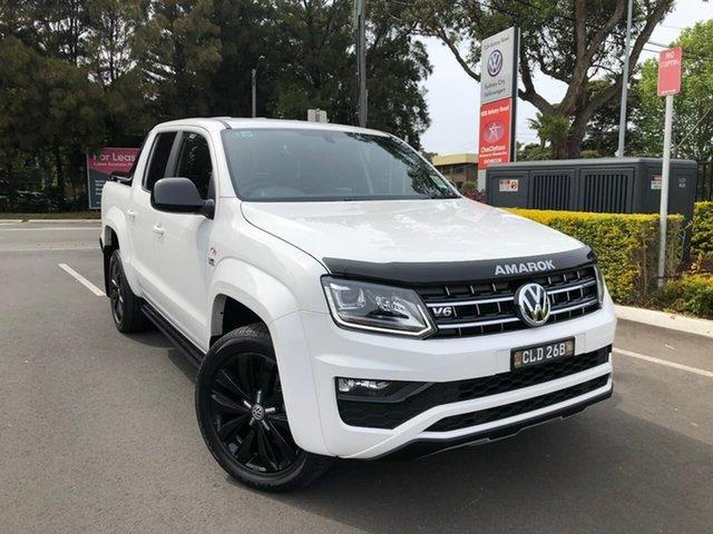 Demo Volkswagen Amarok 2H MY20 TDI580 4MOTION Perm Highline Black, 2019 Volkswagen Amarok 2H MY20 TDI580 4MOTION Perm Highline Black White 8 Speed Automatic Utility