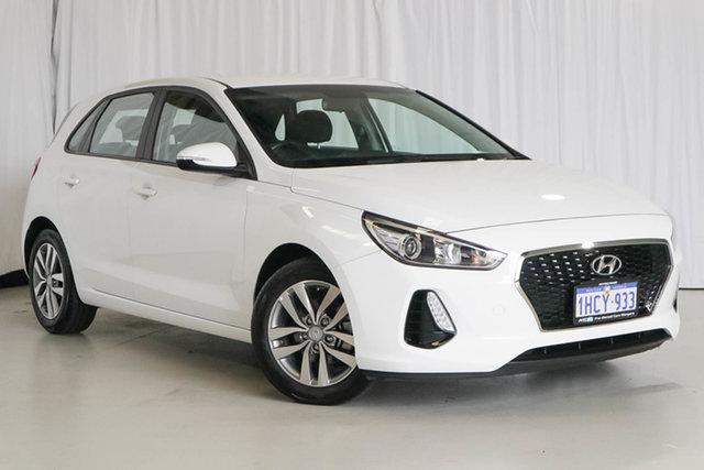Used Hyundai i30 PD2 MY19 Active, 2019 Hyundai i30 PD2 MY19 Active White 6 Speed Sports Automatic Hatchback