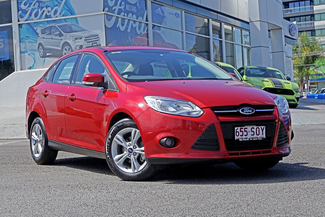 Used Ford Focus LW Trend PwrShift, 2012 Ford Focus LW Trend PwrShift Red 6 Speed Auto Sedan