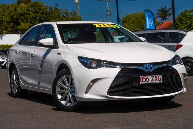Used Toyota Camry AVV50R Atara S, 2016 Toyota Camry AVV50R Atara S White 1 Speed Constant Variable Sedan Hybrid