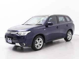 2014 Mitsubishi Outlander ZJ MY14.5 ES (4x4) Blue Continuous Variable Wagon.