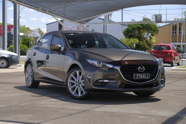 Used Mazda 3 BN5436 SP25 SKYACTIV-MT GT, 2017 Mazda 3 BN5436 SP25 SKYACTIV-MT GT Titanium Flash 6 Speed Manual Hatchback