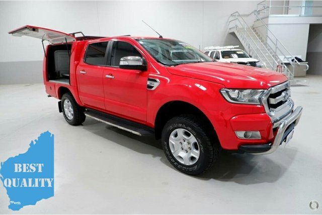 Used Ford Ranger PX MkII XLT Double Cab 4x2 Hi-Rider, 2017 Ford Ranger PX MkII XLT Double Cab 4x2 Hi-Rider Red 6 Speed Sports Automatic Utility