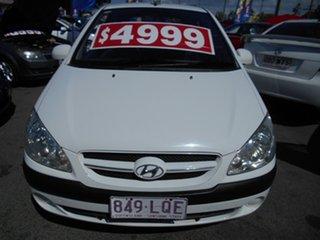 2007 Hyundai Getz TB MY06 White 5 Speed Manual Hatchback.