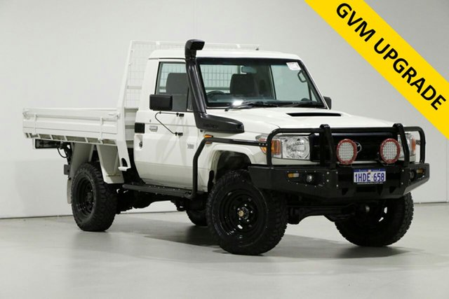 Used Toyota Landcruiser VDJ79R MY12 Update GXL (4x4), 2016 Toyota Landcruiser VDJ79R MY12 Update GXL (4x4) White 5 Speed Manual Cab Chassis