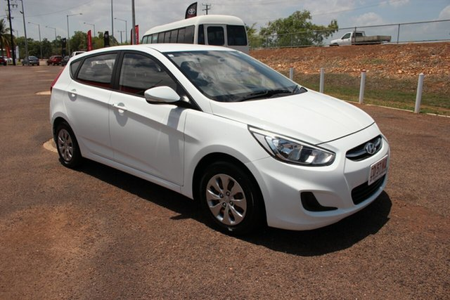 Used Hyundai Accent RB3 MY16 Active, 2016 Hyundai Accent RB3 MY16 Active White 6 Speed Constant Variable Hatchback