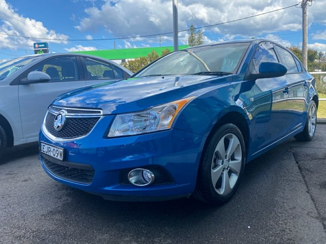 Used Holden Cruze JH Series II MY14 Equipe Cardiff, 2014 Holden Cruze JH Series II MY14 Equipe Blue 6 Speed Sports Automatic Sedan