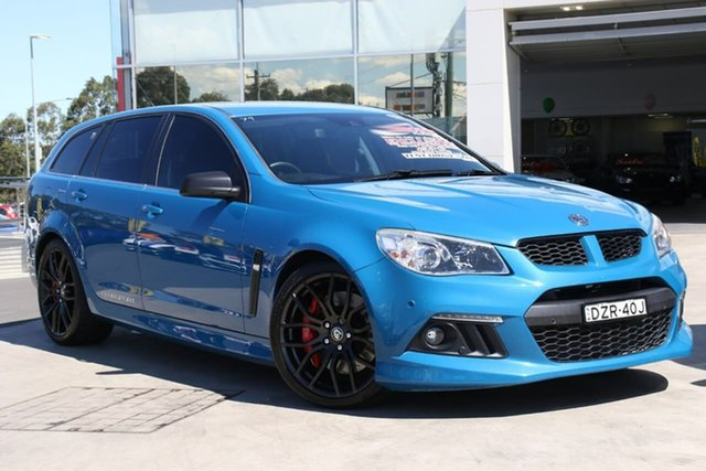 Used Holden Special Vehicles ClubSport Gen-F MY14 R8 Tourer, 2013 Holden Special Vehicles ClubSport Gen-F MY14 R8 Tourer Perfect Blue 6 Speed Sports Automatic