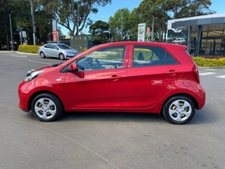 2016 Kia Picanto TA MY17 SI Red 4 Speed Automatic Hatchback