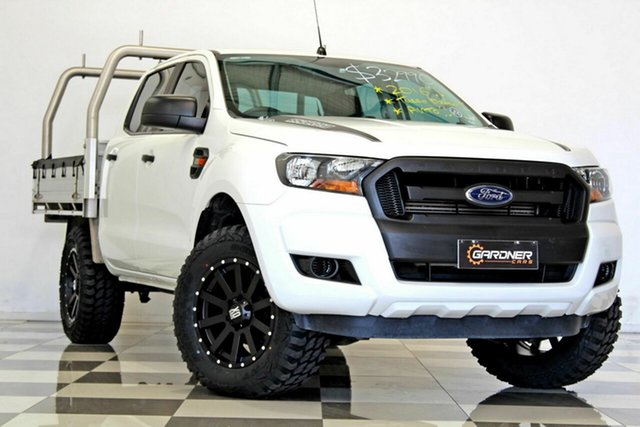 Used Ford Ranger PX MkII MY17 XL 2.2 Hi-Rider (4x2), 2016 Ford Ranger PX MkII MY17 XL 2.2 Hi-Rider (4x2) White 6 Speed Automatic Crew Cab Chassis
