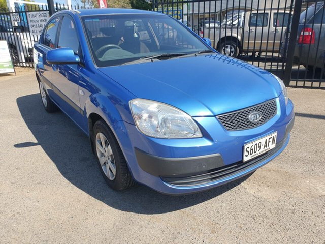 Used Kia Rio JB MY07 EX-L Morphett Vale, 2008 Kia Rio JB MY07 EX-L Blue 4 Speed Automatic Sedan