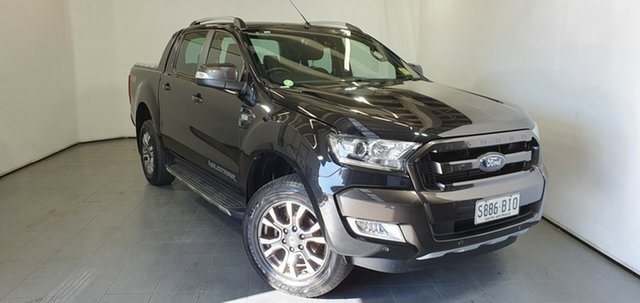 Used Ford Ranger PX MkII Wildtrak Double Cab, 2015 Ford Ranger PX MkII Wildtrak Double Cab Black 6 Speed Manual Utility