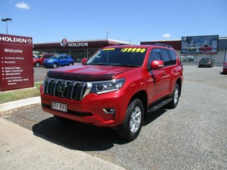 2018 Toyota Landcruiser Prado GDJ150R GXL Red 6 Speed Sports Automatic Wagon.