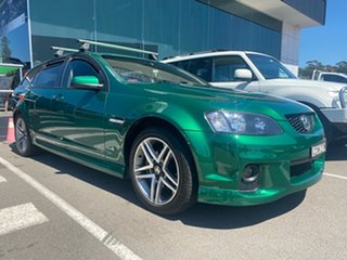 2011 Holden Commodore VE II SV6 Sportwagon Green 6 Speed Sports Automatic Wagon