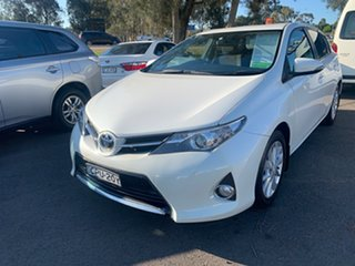 2013 Toyota Corolla ZRE182R Ascent Sport White 6 Speed Manual Hatchback.