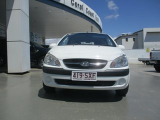 2009 Hyundai Getz TB MY09 S White 5 Speed Manual Hatchback