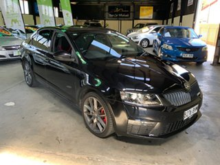 2015 Skoda Octavia NE MY15.5 RS Sedan DSG 162TSI Black 6 Speed Sports Automatic Dual Clutch Liftback.