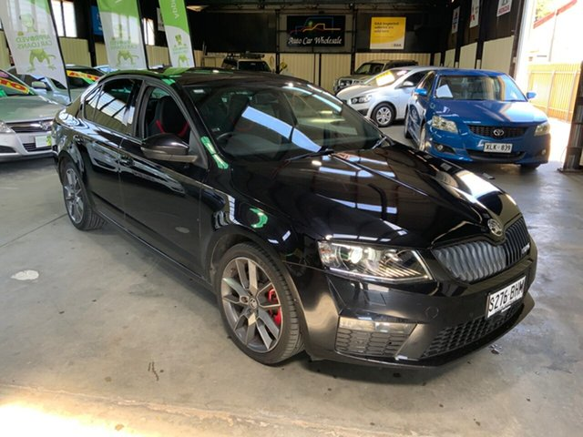 Used Skoda Octavia NE MY15.5 RS Sedan DSG 162TSI Hampstead Gardens, 2015 Skoda Octavia NE MY15.5 RS Sedan DSG 162TSI Black 6 Speed Sports Automatic Dual Clutch Liftback