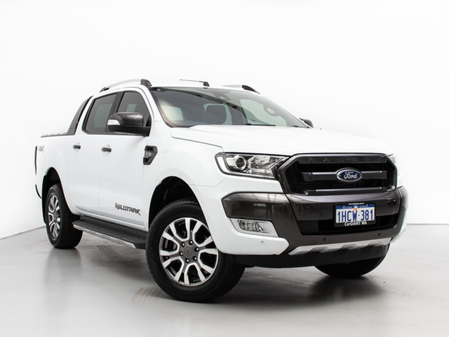 Used Ford Ranger PX MkII MY18 Wildtrak 3.2 (4x4), 2018 Ford Ranger PX MkII MY18 Wildtrak 3.2 (4x4) White 6 Speed Manual Dual Cab Pick-up