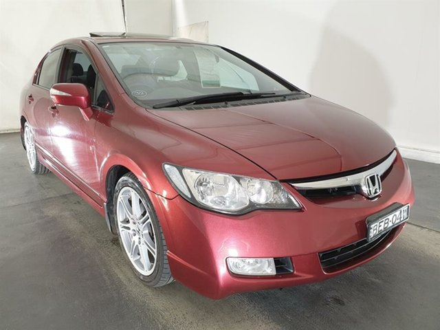Used Honda Civic 8th Gen MY07 Sport, 2006 Honda Civic 8th Gen MY07 Sport Red 5 Speed Manual Sedan