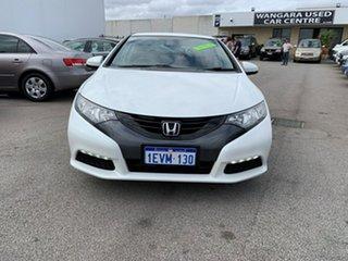 2013 Honda Civic FK MY13 VTi-S White 6 Speed Manual Hatchback.