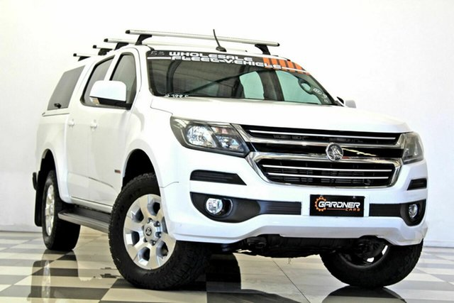 Used Holden Colorado RG MY18 LT (4x2), 2017 Holden Colorado RG MY18 LT (4x2) White 6 Speed Automatic Crew Cab Pickup