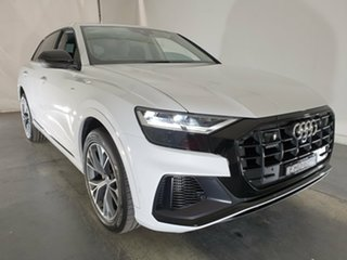 2020 Audi Q8 4M MY20 55 TFSI Tiptronic Quattro Glacier White 8 Speed Sports Automatic Wagon.