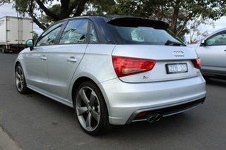2012 Audi A1 8X MY12 Sport Sportback S Tronic Silver 7 Speed Sports Automatic Dual Clutch Hatchback.