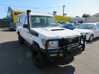 2008 Toyota Landcruiser VDJ78R Workmate (4x4) 11 Seat White 5 Speed Manual TroopCarrier