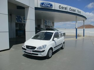 2009 Hyundai Getz TB MY09 S White 5 Speed Manual Hatchback.