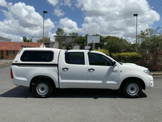 2009 Toyota Hilux KUN16R SR White 5 Speed Manual Dual Cab.