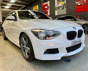 2013 BMW 125i F20 125i White Sports Automatic Hatchback.
