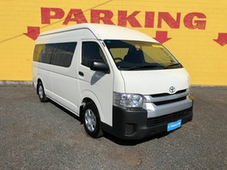 2014 Toyota HiAce KDH223R MY14 Commuter High Roof Super LWB White 4 Speed Automatic Bus.