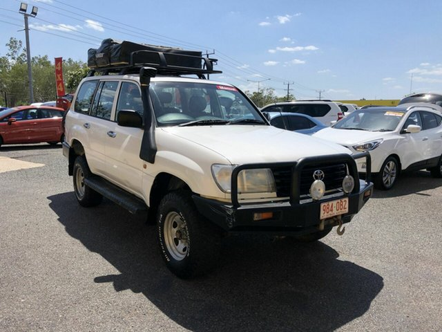Used Toyota Landcruiser HZJ105R Standard, 2004 Toyota Landcruiser HZJ105R Standard White 5 Speed Manual Wagon