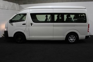 2016 Toyota HiAce TRH223R Commuter High Roof Super LWB White 6 Speed Automatic Bus