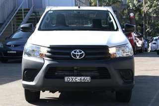 2018 Toyota Hilux GUN122R MY17 Workmate Glacier White 5 Speed Manual Cab Chassis