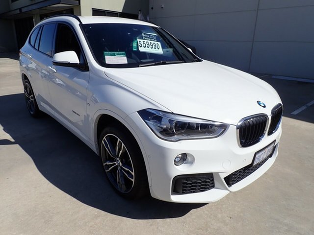 Used BMW X1 F48 MY19 xDrive 25i M Sport Wangara, 2018 BMW X1 F48 MY19 xDrive 25i M Sport White Crystal 8 Speed Automatic Wagon
