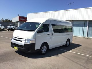 2014 Toyota HiAce KDH223R MY14 Commuter High Roof Super LWB French Vanilla 4 Speed Automatic Bus.